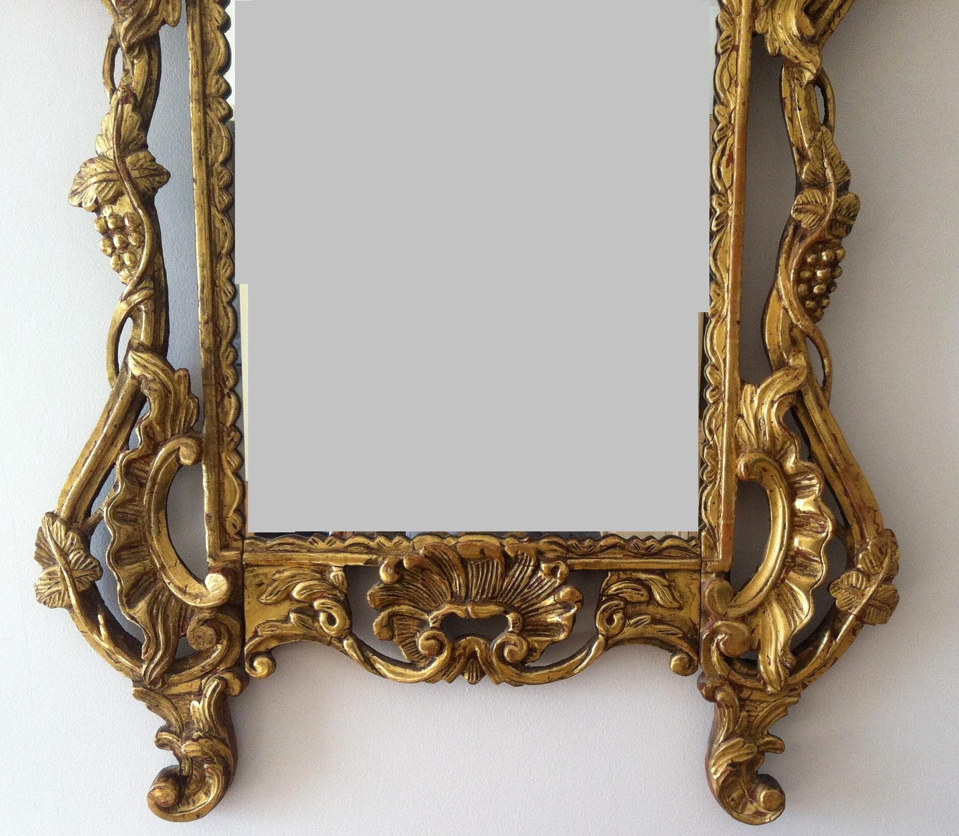 Miroir style louis xv rocailles circa 1900 for Miroir style