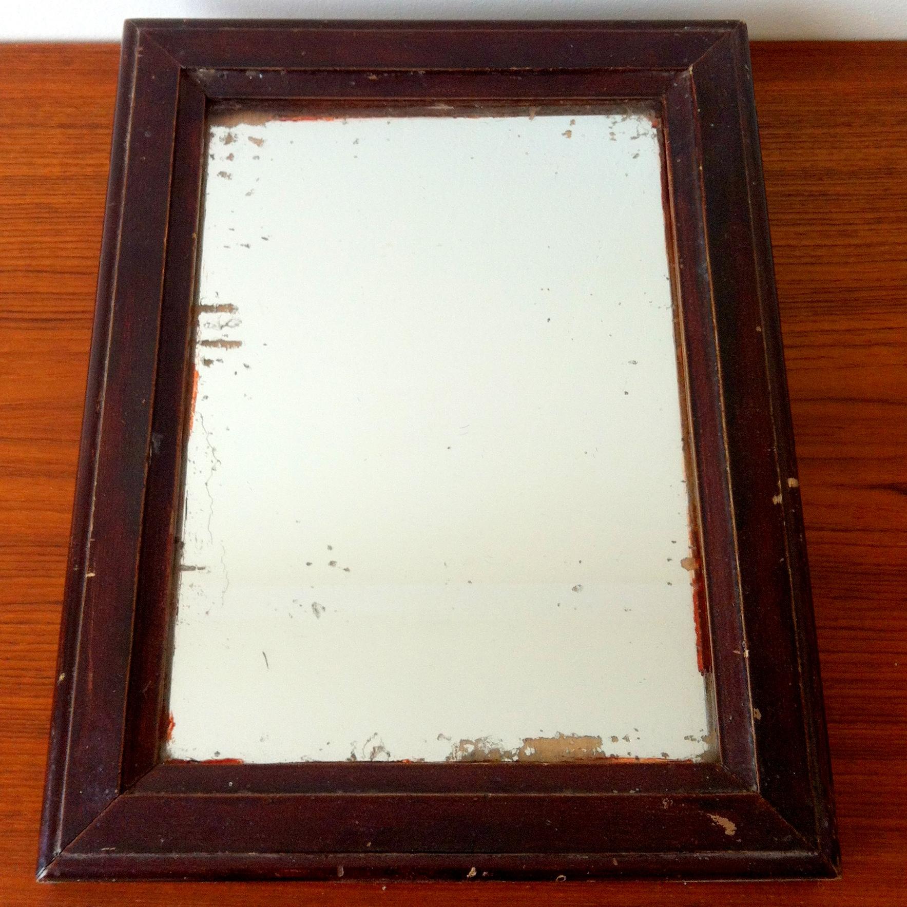 Miroir moulur bois peint xxe antiquites de maguelone for Miroir moulure